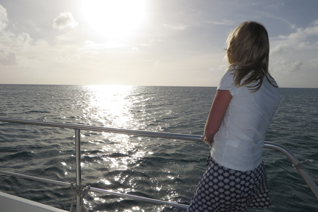 One of my favorite memories from the honeymoon ... a beautiful wife watching a beautiful sunset.