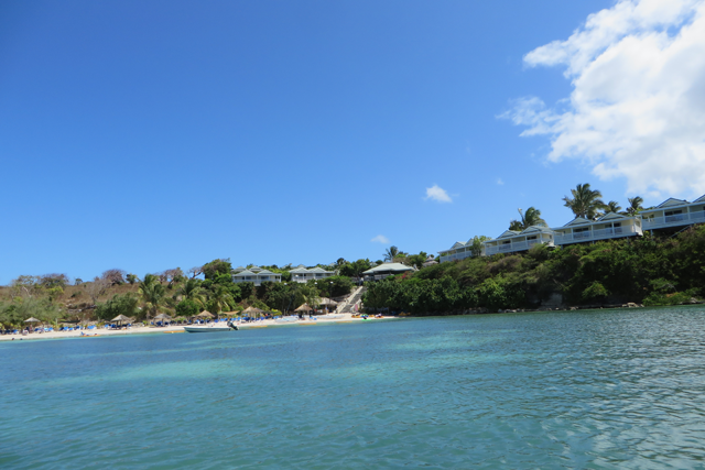 A view of Antigua's Verandah resort's main beach.