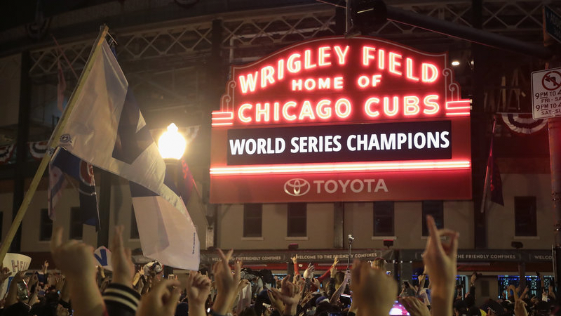 The 2016 Chicago Cubs are World Series champions.